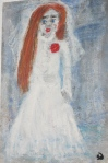"Painting depicts dead bride from the song ""Lowlands."""