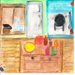 painting of kitchen