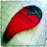 Lauren's chile potholder prototype.